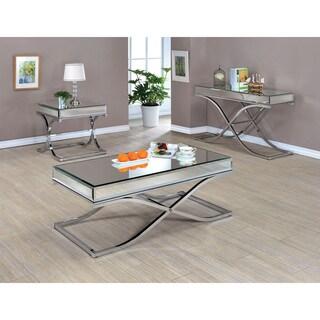 Furniture Of America Orelia Luxury Copper Metal Coffee