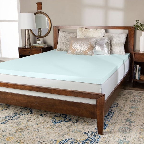 Splendorest Serene ComfortTech 1.5-inch Foam Mattress Topper - LIGHT BLUE