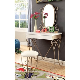 Princess Vanity Table And Chair Set 12349587 Overstock