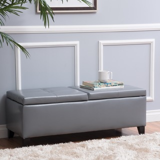 Christopher Knight Home Alfred Brown Bonded Leather