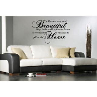 Stickalz 'Most Beautiful Things' Quote Wall Art Sticker Decal