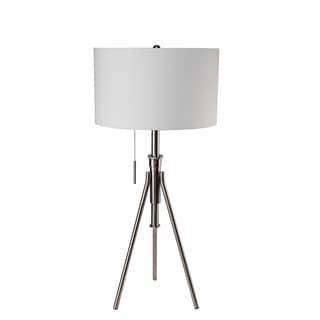 Mid Century Adjustable Silver Tripod Floor Lamp 18467555