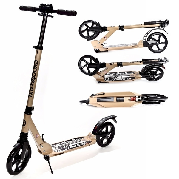 exooter m1350bz bronze 8xl adult cruiser kick scooter with suspension shocks 18454230. Black Bedroom Furniture Sets. Home Design Ideas