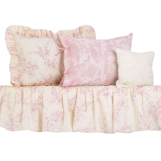 Cotton Tale Girls 4 Piece Pink Crib Bedding Set In Heaven