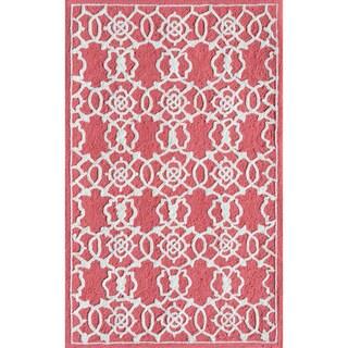 Hand Woven Oscar Moroccan Trellis Geometric Flatweave Wool