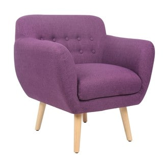 Safavieh Retro Purple Accent Chair 14000633 Overstock