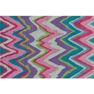 Alliyah Handmade Lilac New Zealand Blend Wool Rug 8x10
