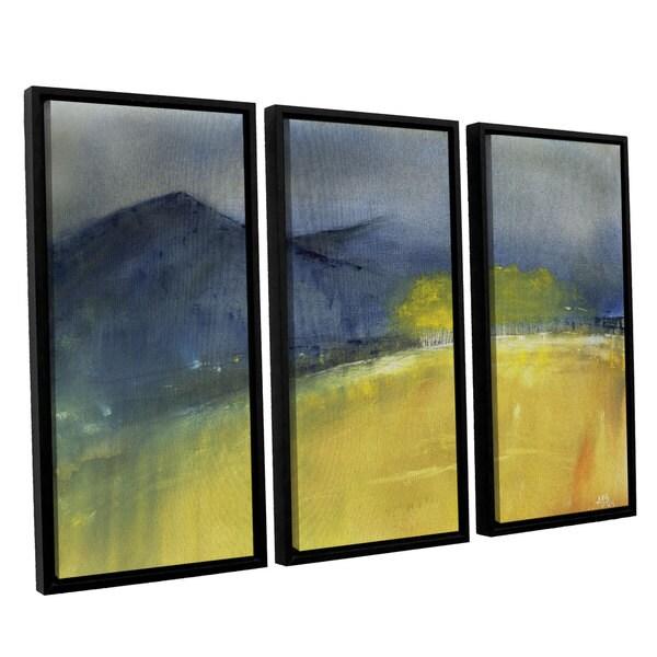 Amber Berninger's 'Telluride Fall Rain, 3 Piece Floater Framed Canvas Set