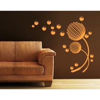 36 by 36 ArtWall Lora Mosier Backyard Butterfly Appeelz Removable Graphic Wall Art