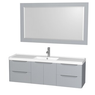 Virtu Usa Hazel 56 Inch Single Sink Bathroom Vanity Set 12127813 Overstock Com Shopping