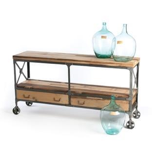 Sunny Designs Sedona Rustic Oak Sofa Console Table