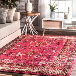 Nuloom Distressed Abstract Vintage Oriental Multi Rug 9