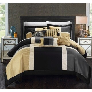 Clay Alder Home Fruita Black/ Tan 11-piece Comforter Set