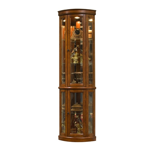 Brown Corner Curio Cabinet - 18523716 - Overstock.com ...