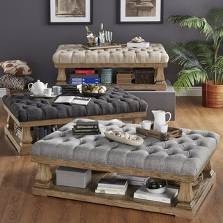 Grey Ottomans Overstock Com Buy Living Room Furniture