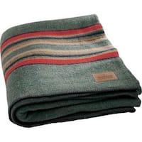 Pendleton Green Heather Yakima Camp Wool Blanket