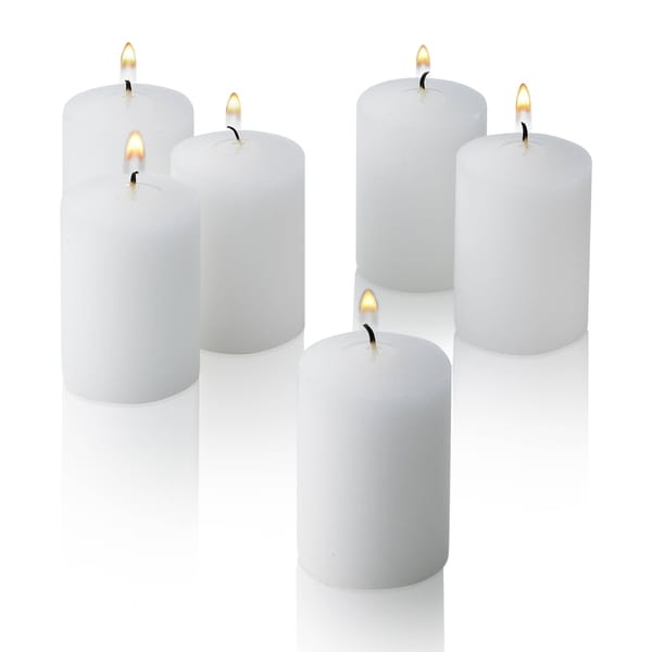 White Unscented Votive Candles Set of 36 Burn 15 Hours