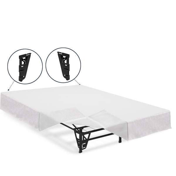 Crown Comfort 14 Inch Twin Size Platform Bed Frame And