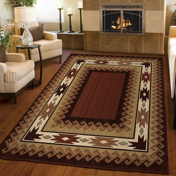 Carolina Weavers Log Cabin Lodge Glendale Rust Area Rug 5