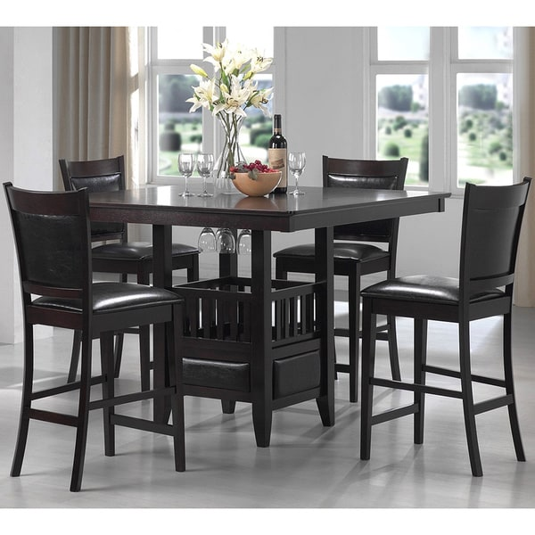 Tribecca Home Acton Warm Merlot X Back Casual Dining Side: Sandos Mid Century Casual 5-piece Counter Height Dining