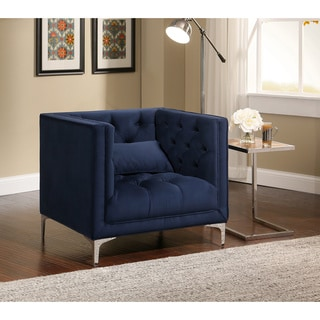 Modena Modern White Leather Accent Chair 15267938