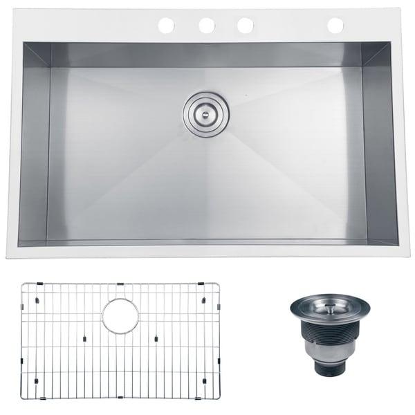 Ruvati Rvh8001 Overmount Single Bowl Kitchen Sink 33