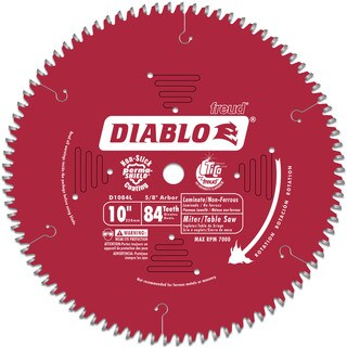 "Diablo D1084L 10"" 84T Laminate Chop/Slide Miter & Table Saw Blade"