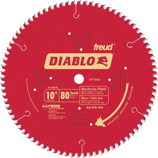 """Diablo D1080N 10"""" 80T Diablo Non-Ferrous & Plastic Table/Chop/Slide Miter"""