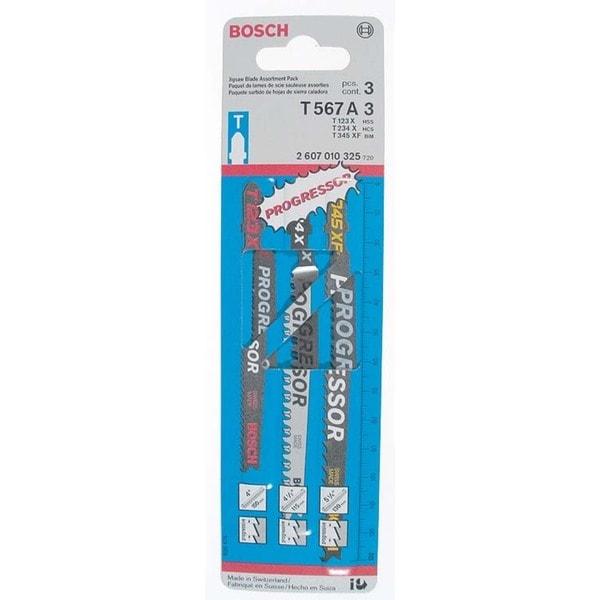 Bosch T567A3 Progressor 3 Piece Assorted Jig Saw Blades