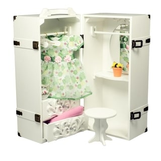 Badger Basket White Pink Doll Armoire 13662741
