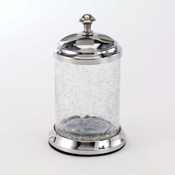 Crackle Glass Clear Toothbrush Holder 18575211