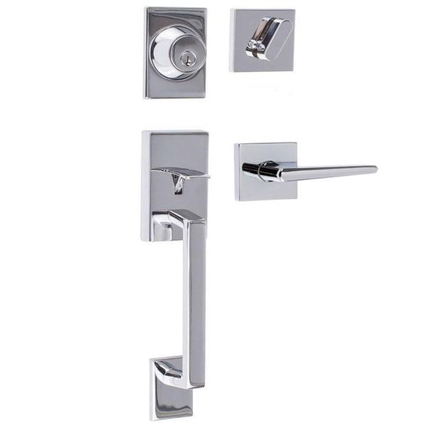 Sure Loc Modern Front Entrance Handle Set 18575427