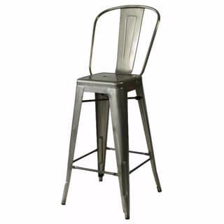 tabouret silver with back 30 inch bar stools set of 2 14381364 shopping. Black Bedroom Furniture Sets. Home Design Ideas