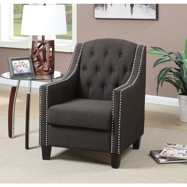 Beverly Tufted Nailhead Trim Accent Arm Chair 18577675