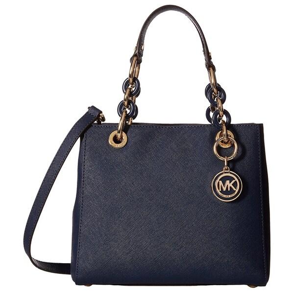 dcc81dd9ef98 MICHAEL Michael Kors Cynthia Small N S Satchel Navy - MICHAEL Michael Kors  Designer Handbags