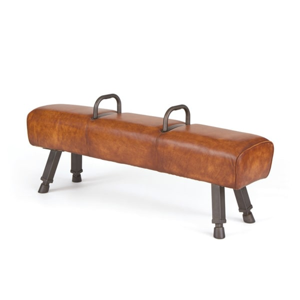 Hip Vintage Brown Leather Gabby Bench 18582414