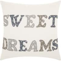 kathy ireland Sweet Dreams White Throw Pillow (18-inch x 18-inch) by Nourison