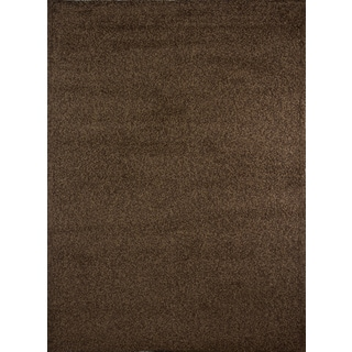 5 X 8 Hand Woven Chindi Brown Leather Rug 10134409