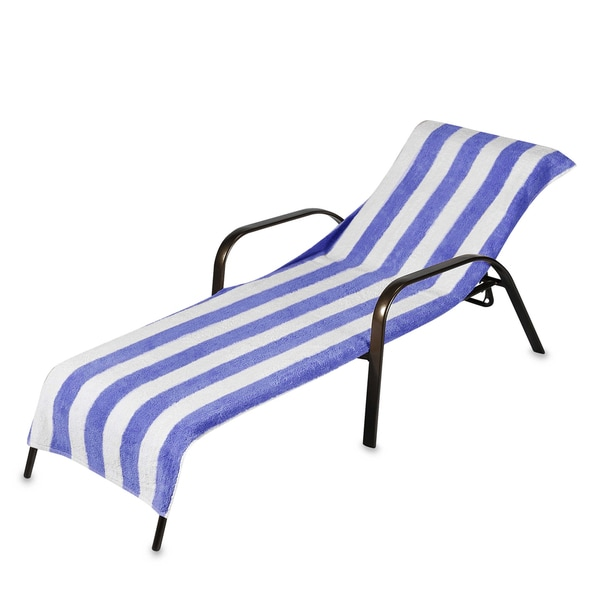 Beach Towel Style Terry Stripe Chaise Lounge Cover 28 X