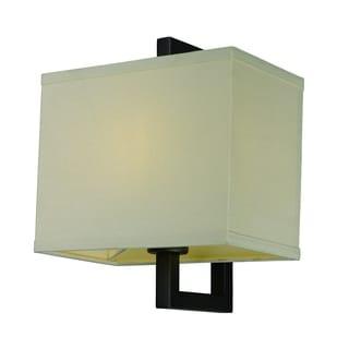 Blayne 1 Light Platinum Oak Mercury Glass Wall Sconce