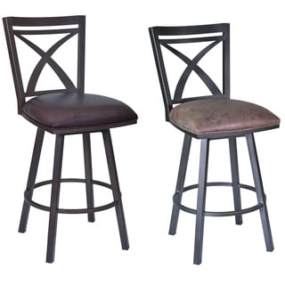 Armen Living Vienna 30 Inch Swivel Bar Height Barstool In Walnut Wood Finish With Pu Upholstery Color Options 18593778 Overstock Com