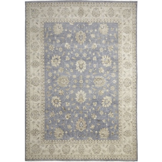 Hand Knotted Light Blue Ismo New Zealand Wool Rug 8 X 11