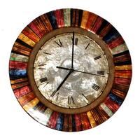 Handmade Clock Multicolor