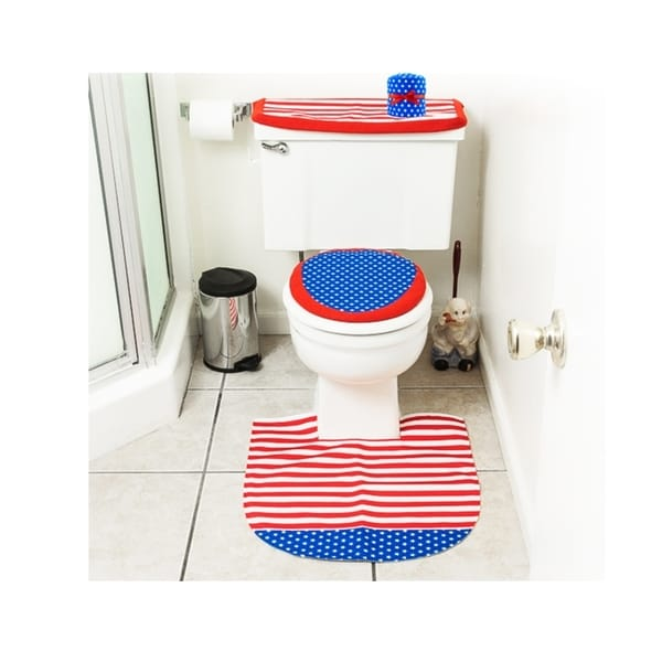 4th Of July Decorations Patriotic Toilet Seat Cover And