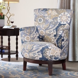 Swivel Accent Chair With Paisley Pattern 18611644