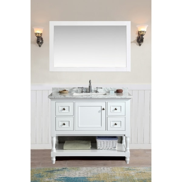 Ari Kitchen And Bath Cape Cod White 42 Inch Single