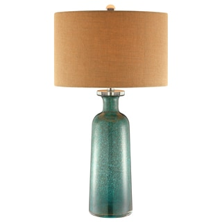 Shelley Glass 1 Light Brushed Table Lamp 16048946