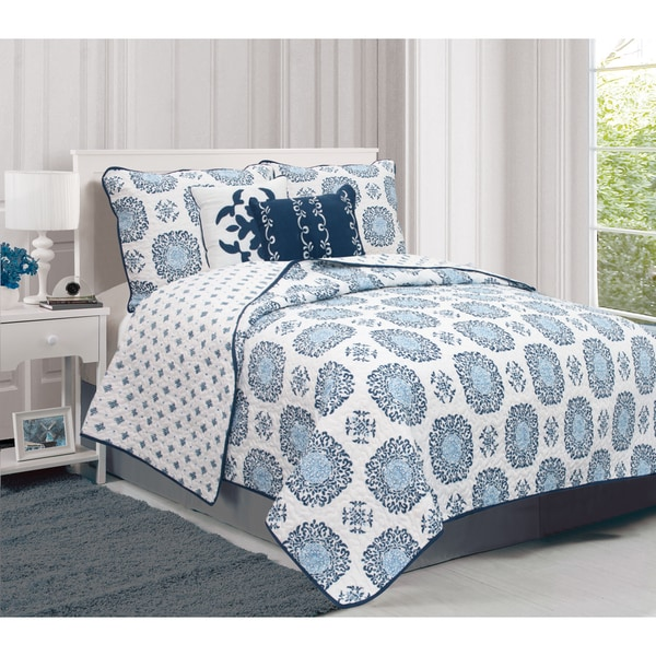 Home Fashion Designs Filigree Collection 5 Piece Quilt Set