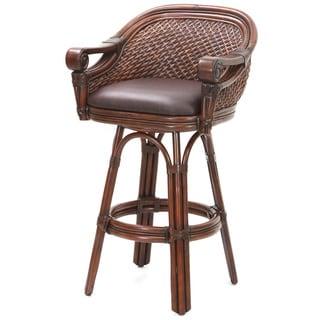 Safavieh Omari Grey Rattan 17 6 Inch 2 Seater Stool