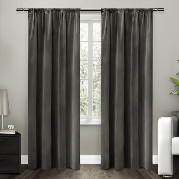 ATI Home Cotton Velvet Blackout Lined Curtain 84